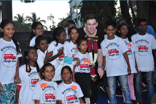 World renowned DJ Hardwell performs for thousands of kids from Magic Bus in Mumbai