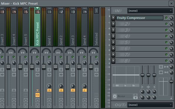 MPC Kick Compression Preset For FL Studio