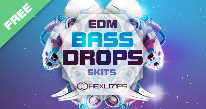 Free EDM Bass Drops Sample Pack by Hex Loops